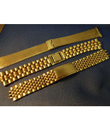 LOT OF 3 VINTAGE 1970'S STAINLESS STEEL WATCHBANDS FOR RESTORATIONS - $175.00