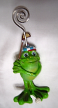 Golfing Frog Picture Business Card Recipe Holder - $12.99
