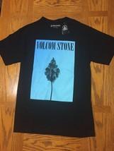 Volcom Short Sleeve T-Shirt Men's Small S Black Cotton Tee Graphic - $54.45
