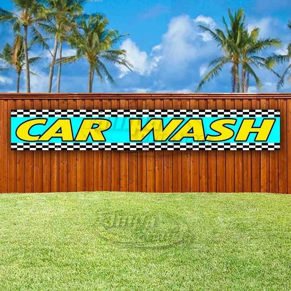 Primary image for CARWASH Advertising Vinyl Banner Flag Sign LARGE HUGE XXL SIZES