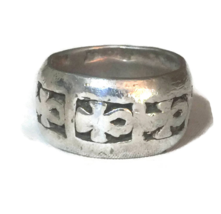 Vintage Ankh Sterling Silver Handmade Ring Size 9.25 Symbol of Life    - $68.00