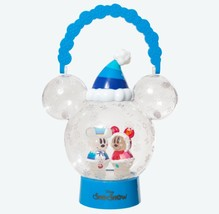 Tokyo Disney Land Snow Snow Lantern LED Bule Lamp illumination Mickey & ... - $72.27