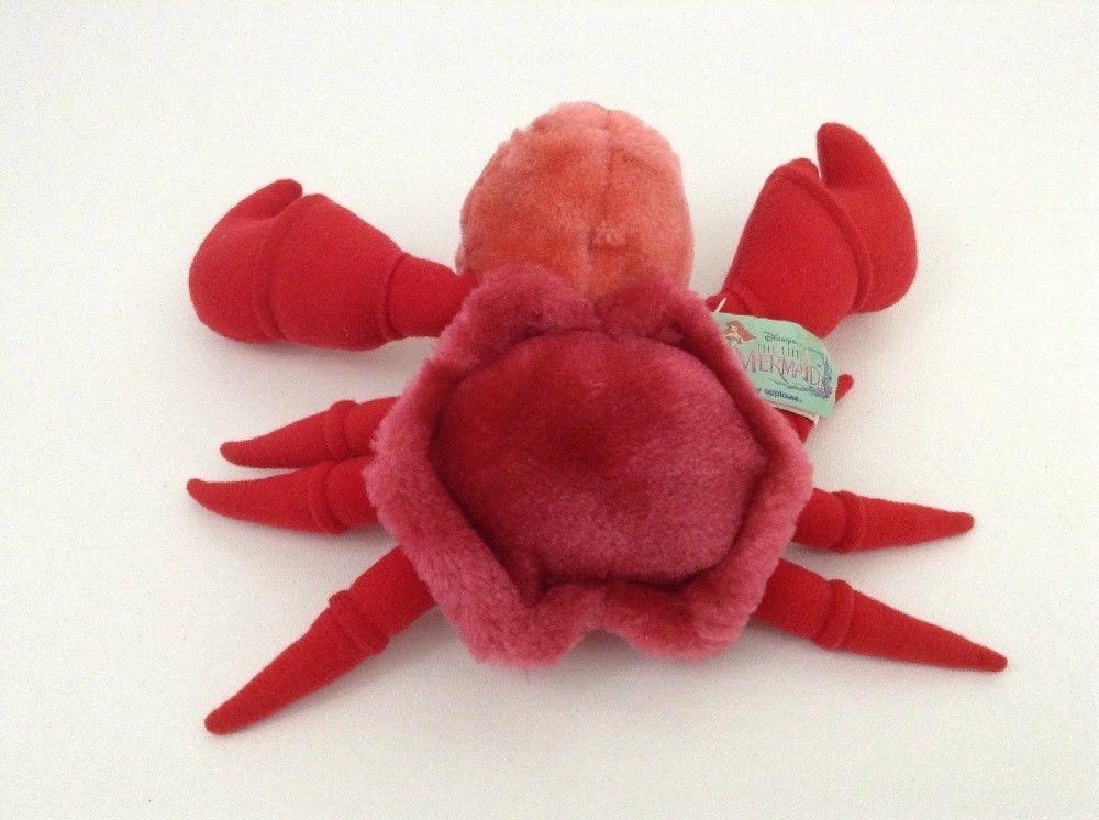 "The Little Mermaid Sebastian Red Crab 8"" Plush Stuffed Vintage Applause Disney"