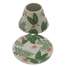 Yankee Candle Botanicals Floral Nature Butterfly Ceramic Shade & Dish Set - $14.99