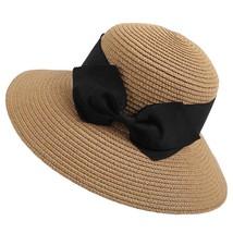 SAGACE hat Women Fashion Sunny Floppy Foldable Ladies Women Straw Beach Sun Summ - $14.30