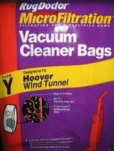 2 Bags Type Y Hoover Wind Tunnel MicroFiltration Vacuum Cleaner Bags - $5.48