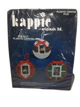 Kapppie Originals Pre cut Canvas Photo Ornament 3 Pkg Crafts Needle Point  - $24.49