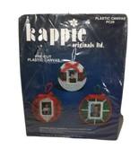 Kapppie Originals Pre cut Canvas Photo Ornament 3 Pkg Crafts Needle Point  - $24.49