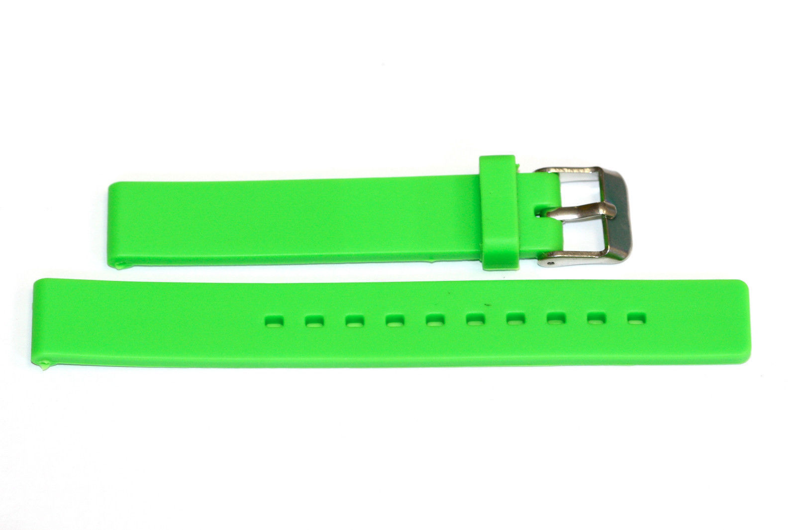 Primary image for 12MM BRIGHT GREEN RUBBER SILICONE SMOOTH WATCH BAND STRAP