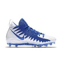 Nike Alpha Menace Pro Mid Football Cleats Game Royal White 871451-411 Me... - $54.95