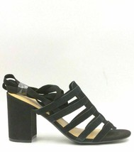 Marc Fisher Suede Ankle Wrap Sandals Size US 9.5M Black Pheobe - $43.82