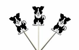 Crafty Cue Border Collie Cupcake Toppers - 12 Count - $11.99