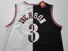 ALLEN IVERSON / NBA HALL OF FAME / AUTOGRAPHED 76ERS THROWBACK JERSEY / COA image 1