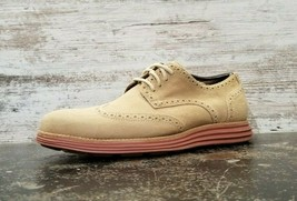 Mens Cole Haan Lunargrand Oxford Shoes Sz 10 M Used Beige Suede C10228 - $49.49