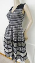 Nwt Max Studio Print Casual Sleeveless Day Dress  Sz XS X-Small Black Gr... - $54.40