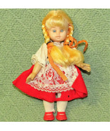 "7"" VINTAGE DOLLS OF MANY LANDS ETHNIC BLOND WITH COSTUME GERMAN? DUTCH? ... - $13.66"