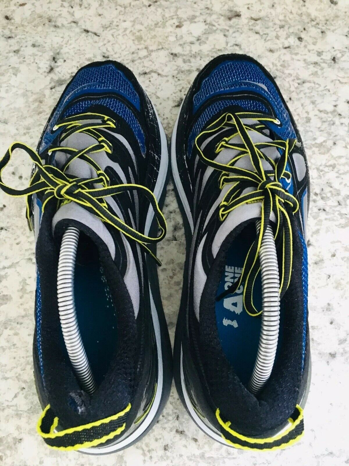 HOKA One One Constant Blue Yellow & Black running Shoes Men's SIZE 10 image 7