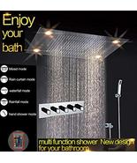 Cascada Classic Design 23 x 31 Inch large rain shower set with recessed ... - $2,672.95
