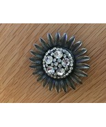 Vintage Costume Jewelry Brooch Rhinestones Glass  - $544.50
