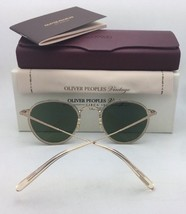 New Oliver Peoples Vintage Sunglasses OP-506 Sun Ov 5350-S 109452 Buff w/ Green - $454.95