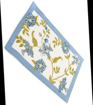 """Accent Printed Rug (Nonskid Back) (18"""" X 30""""), Flowers Blue Floral, Nourison - $16.82"""