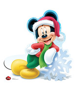 Holiday Mickey Mouse Christmas Cardboard Cutout Standup Standee Holiday ... - $39.55