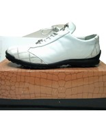 "Mens LA SCARPA ""Zeus"" White Ostrich Skin Leather Casual Shoes - $98.99"