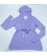 LIMITED TOO GIRLS SIZE 14 PURPLE HOODIE HOODED SWEATER TOP SEQUINS BEADS - $13.79
