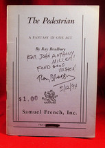 Ray Bradbury THE PEDESTRIAN  A Fantasy In One Act Inscribed and dated by... - $318.50