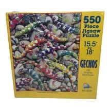 "SunsOut Geckos by Royce McClure 550 Piece Jigsaw Puzzle 15.5""x 18"" New S... - $24.99"
