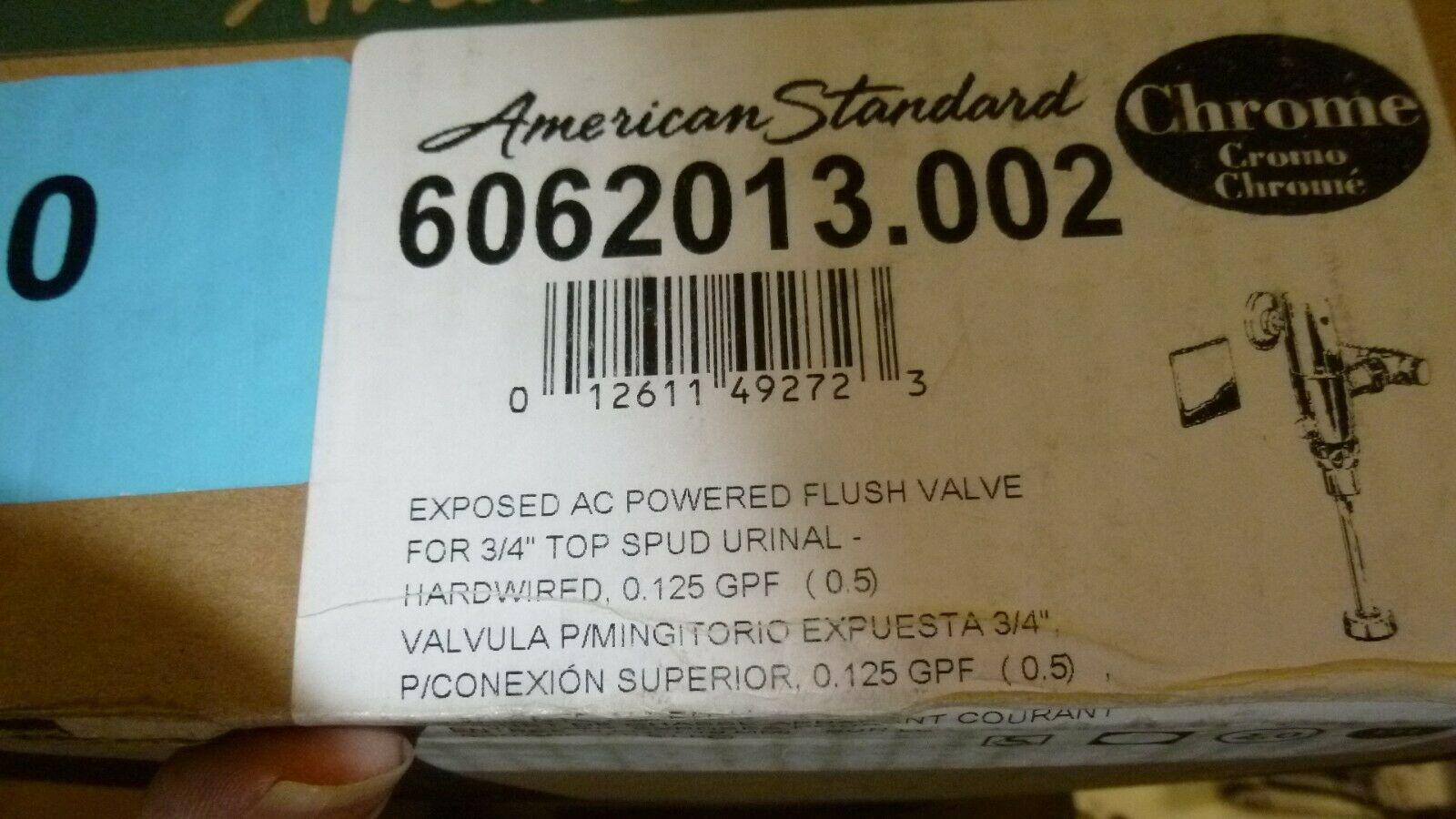American Standard 6062013.002 Chrome Exposed AC Powered Flush Valve - $145.00