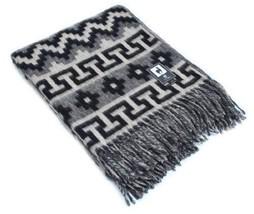 Ethnic Alpaca Wool Throw Blanket Inca Indio Geometric Pattern - €61,45 EUR