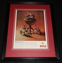 1964 Bols Liquers 11x14 Framed ORIGINAL Vintage Advertisement - $32.36