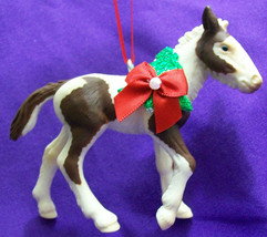 CustomMade Schleich Brown & White Paint Pinto Tinker Horse Christmas Orn... - $18.00