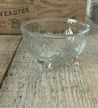 Libbey Textured Clear Glass Small Footed Candy Sauce Bowl 10.8 oz 320 ml  - $15.09