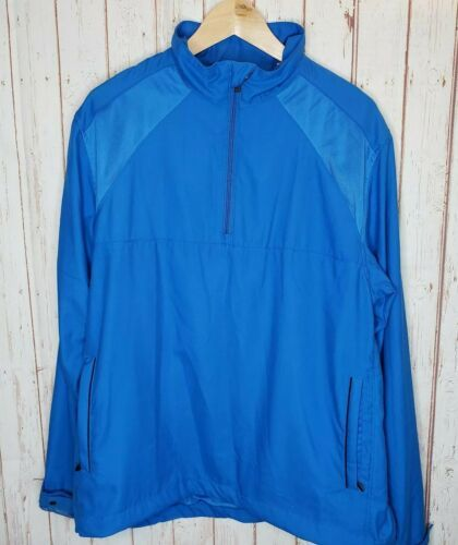 Callaway Golf Mens Sport 3/4 Zip Pullover Windbreaker Jacket sz Large W/pockets - $17.82