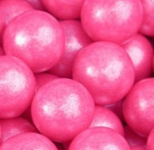Shimmer Pearlescent Bright Pink 1 Inch Gumballs 5LB Bag - $26.92