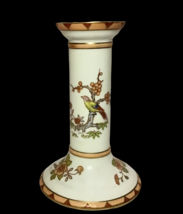 """Nippon Hand Painted Asian Bird Floral Candlestick Candle holder 6"""" Rare Vintage - $54.44"""