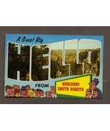 Vintage Postcard A Big Hello from Badlands South Dakota Big Letter  - $2.99