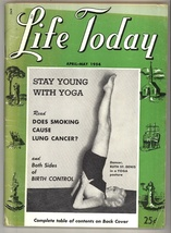 Life today magazine April May 1954 vintage yoga smoking birth control health - $9.00