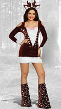 Dreamgirl Deer Me Animal Fur Velvet Dress Adult Womens Halloween Costume... - $56.64
