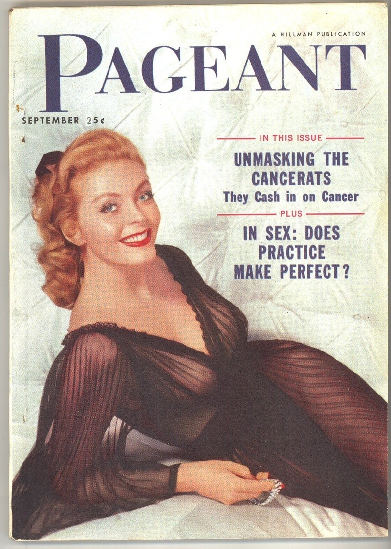 Primary image for Pageant magazine Sept 1954 vintage girlie news men back issue