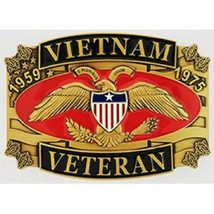 United States American Vietnam Veteran 1959-1975  Belt Buckle NEW!!! - $18.80