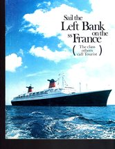 SS France, The French Line Vintage Book with Deck Plan, Broshures & Fact... - $9.95