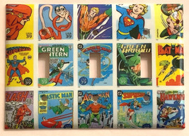DC Superhero Comics USPS Stamps Light Switch Power wall Cover Plate Home decor image 9