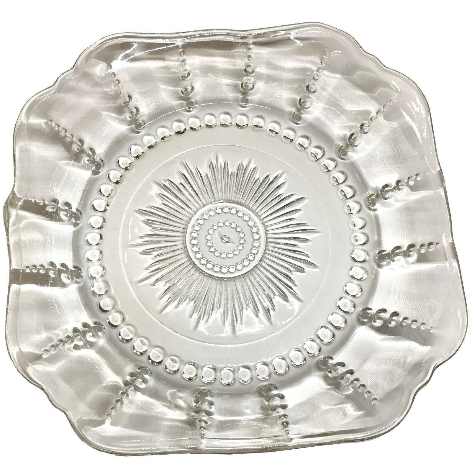 """Federal Depression Crystal Glass Columbia 8 1/2"""" Soup Salad Bowl, EXCELLENT COND - $14.95"""