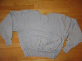 5W/GRAY CHAMPION REVERSE WEAVE CREW NECK SWEATSHIRT/RARE/LARGE/FITTED WA... - $59.35