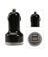 "Black USB Mini Dual 2 Ports Car Charger  for iPhones & iPads and charger cable "" - $5.98"