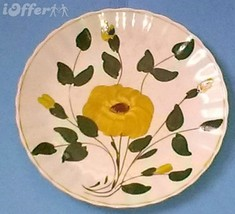 """BLUE RIDGE SOUTHERN POTTERY-- YELLOW NOCTURNE SALAD PLATE   8 1/4"""" - $14.95"""
