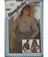 Simplicity 6066 Size 12 Misses set of Loose Fitting Shirts Blouses - $1.99
